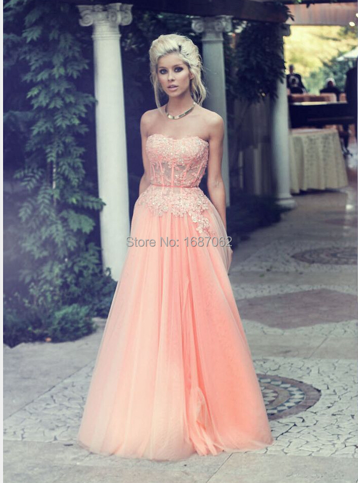 Custom Size Coral Sweetheart Basque Appliques Beaded Lace Tulle