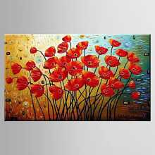 Hand-Painted Modern Abstract Floral Oil Painting Living Room Flower Knife Living Oil Painting on Canvas Wall Art for Home Decor