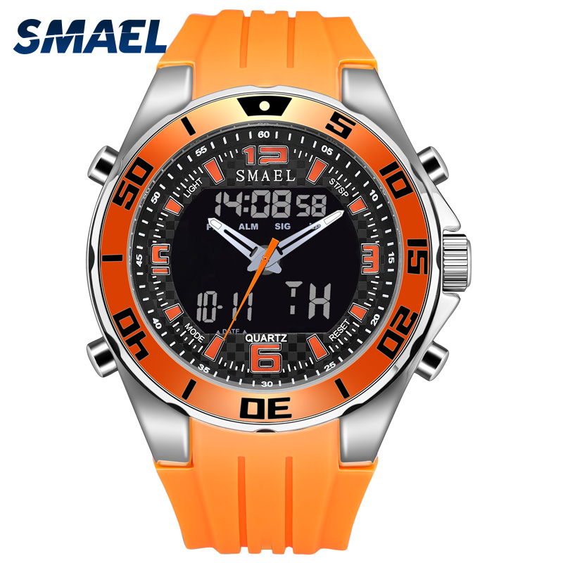 Mens Army Watches 2018 SMAEL Alloy Quartz Wristwatches Digital clock Men Waterproof Big dial Clocks 1195 Sport Watches MilitaryMens Army Watches 2018 SMAEL Alloy Quartz Wristwatches Digital clock Men Waterproof Big dial Clocks 1195 Sport Watches Military
