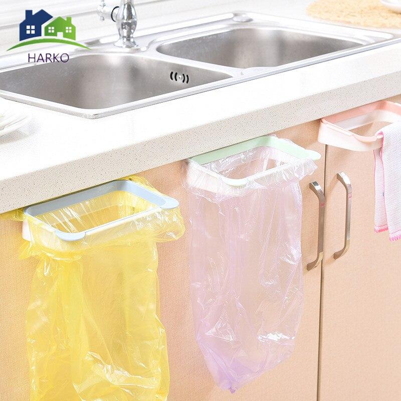 Garbage Bag Racks Hanging Kitchen Cupboard Storage Holders Tailgate Stand Rubbish Bag Towel Storage Rack