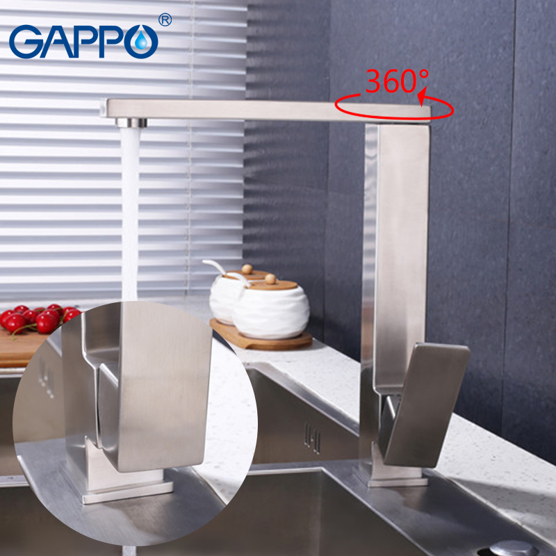 GAPPO Kitchen Faucet Sink Mixer Tap Brass Kitchen Water Mixers Single Handle Deck Mounted Faucets