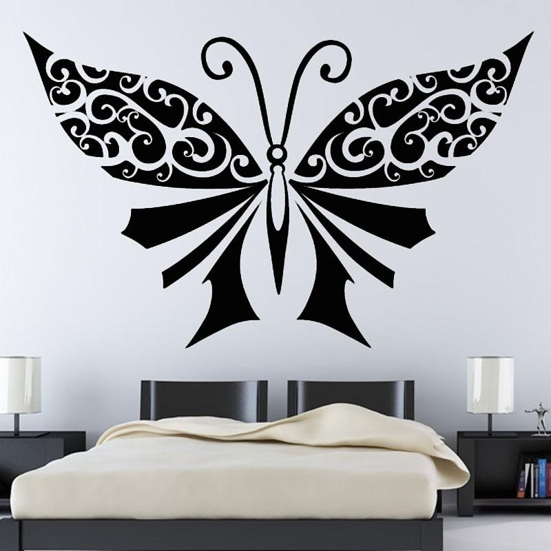 Large Black Butterflies Wall Decor Bedroom Headboard Wall