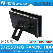 15 inch Full metal all in one touch pc industrial pc with 5 wire Gtouch 4: 3 6COM LPT LED touch 2G RAM only Dual 1000Mbps Nics
