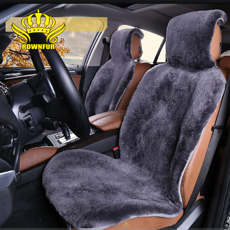 Hot Sale Autocrown Natural Sheepskin Wool Fur Luxury Car Seat Covers