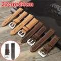 Nuevos Mens Reloj de Cuero Correa 22 24mm Oscuro/Light Brown para Panerai Reloj de Alta Calidad Hecha A Mano de Cuero Retro correa