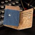 Nuevo Corto Nuevo Monedero Famosa Marca de Cuero Monedero de la Cartera de Diseñador alta Calidad Precio de La Moneda Dólar dinero clip de Gran Capacidad para hombres