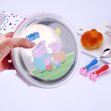 Peppa Pig Feeding Plate,Bowl, Stainless Steel Spoon &Fork