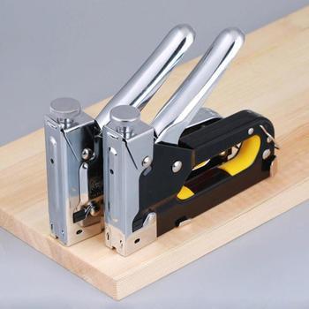 Multitool مسمار التيلة بندقية دباسة للخشب الأثاث الباب الثقيلة السريع المفروشات اليد أداة مع 800 الأظافر