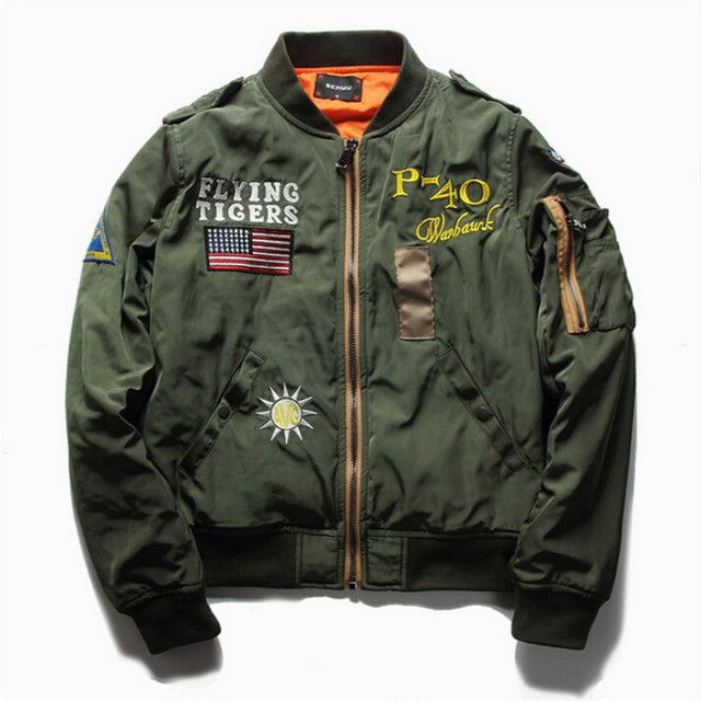 New Men's Air Force One Flight Jacket Bomber Pilots Jacket Coat Tactical Air Force Leisure Baseball Jacket Bomber Coat MY177