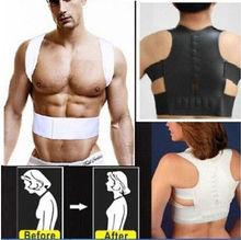 Fashion Magnetic Therapy Posture Corrector Body Shaper Back Pain Belt Brace Shoulder Support Belt цена