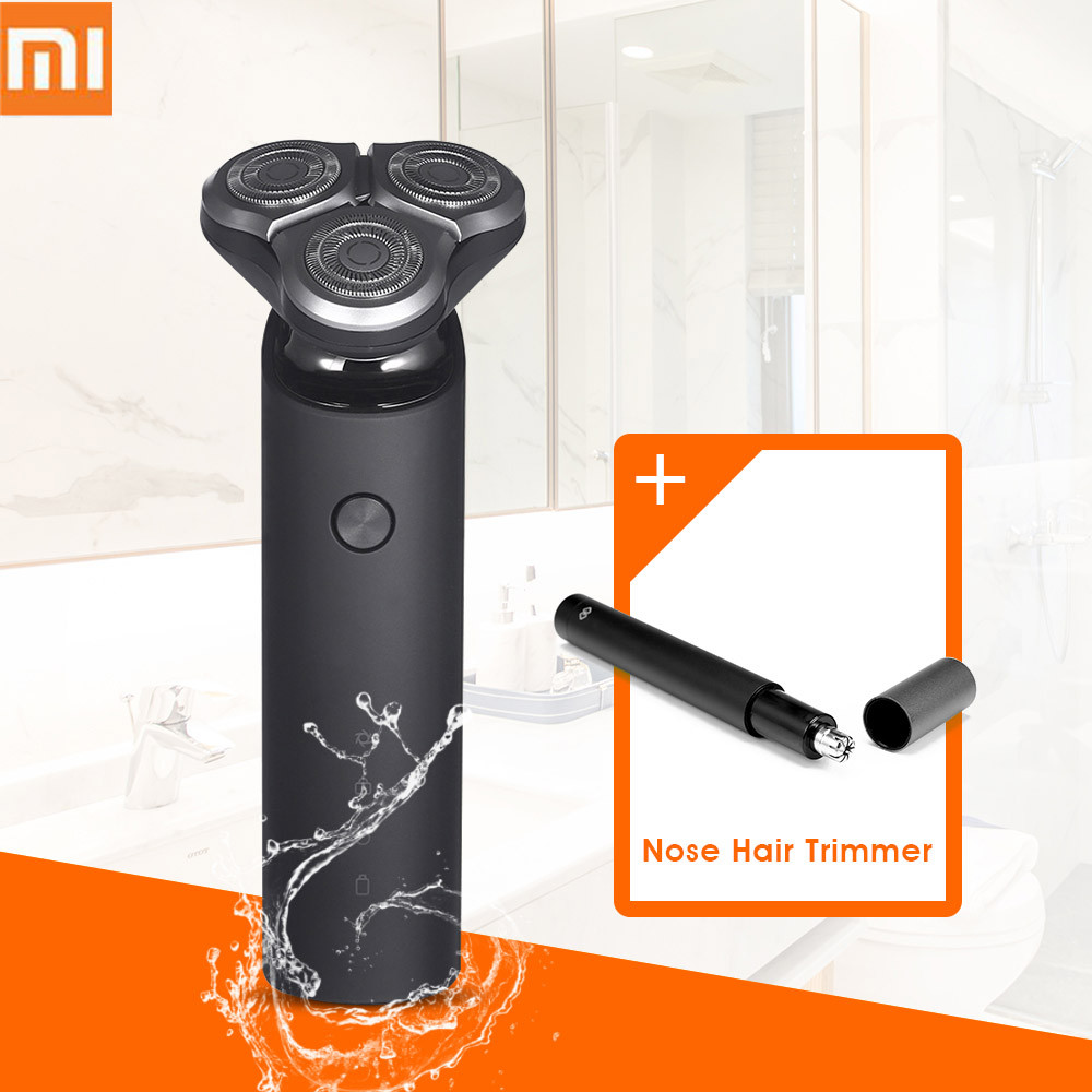 2018 New Xiaomi Mijia Electric Shaver 3D Floating Head 3 Dry Wet Shaving Washable Main-Sub Dual Blade Turbo+ Mode Comfy Clean