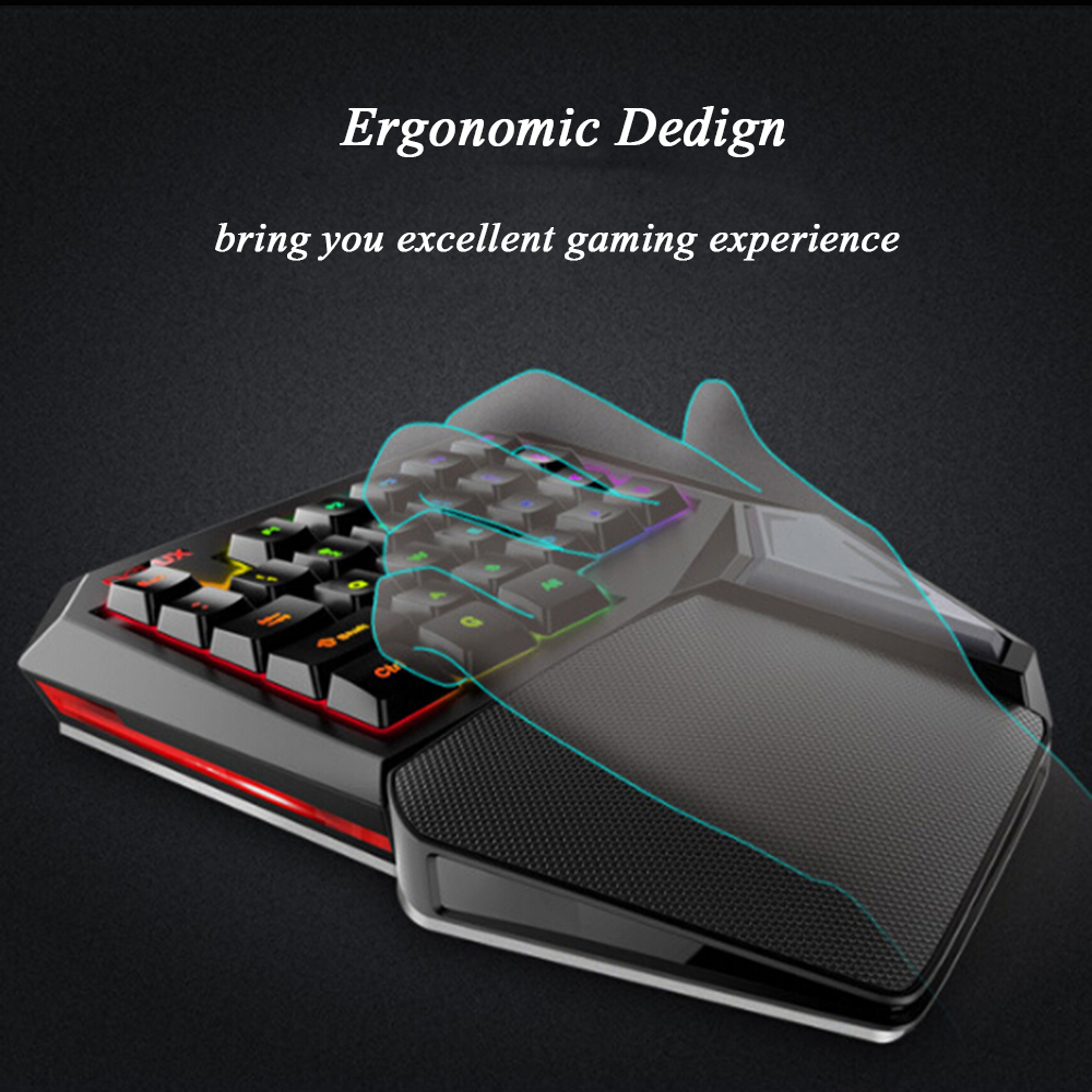 delux t9 plus usb wired gaming keyboard 29 keys programmable one