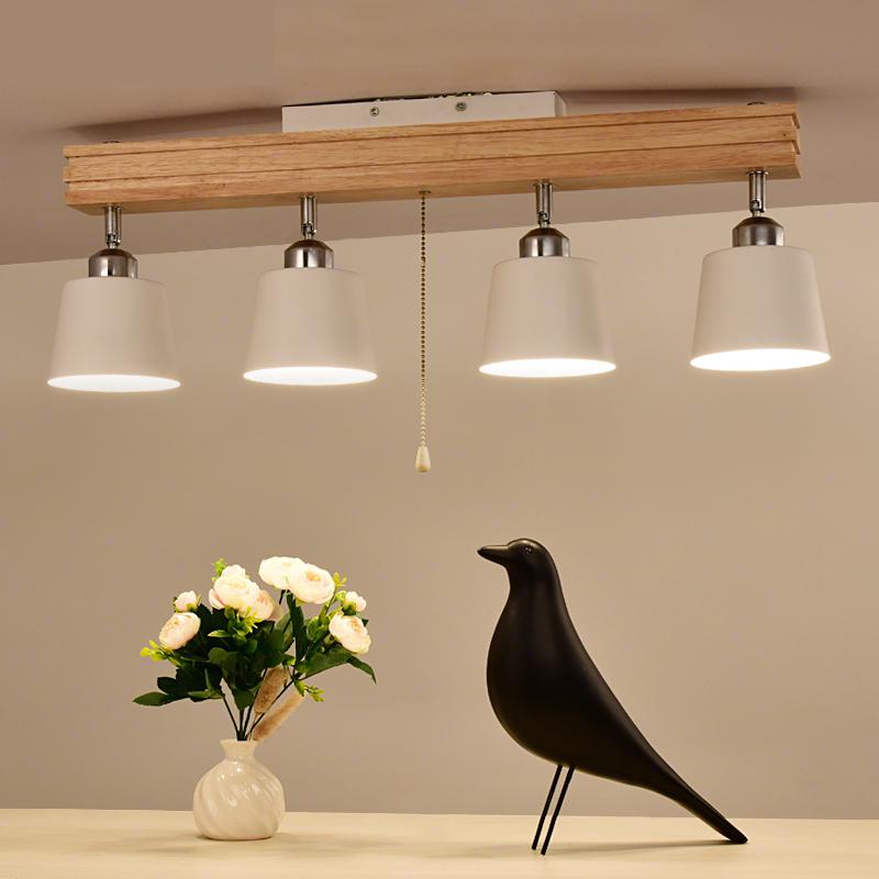 LED Nordic Japanese style Ceiling Light solid wood art ceiling lamp track lamp restaurant bedroom lighting willlustr wooden light japan style led wood ceiling lamp hotel home dinning room bedroom restaurant acrylic panel ceiling light