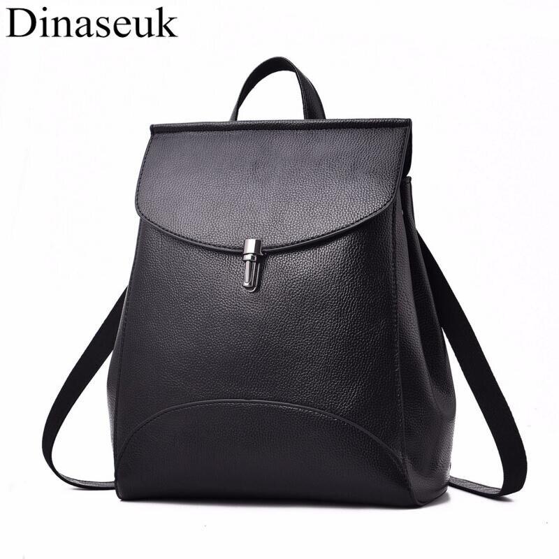 Newest Fashion Women PU Leather Backpack Satchel Euro Simple Shoulder Bag Brand New Designer England Style
