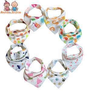 Anna & Joyce 10pc/lot Baby Bibs 100% Cotton Girl Bandana