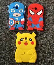 AIPUWEI Cute 3D superman Silicon Mushy Again Cowl Case For Samsung Galaxy Tab A 7.zero T280 T285 SM-T280 pill case+flim coque