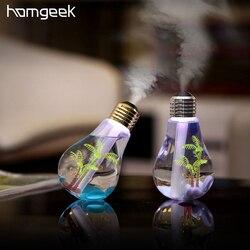 Homgeek 400ml colorido paisagem umidificador led night light bulbo usb mini micro spray hidratando névoa ultra-sônica fabricante para casa