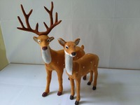 Large Artificial Couples Deers Model Polyethylene Faux Furs Handicraft Figurines Home Garden Decoration Toy Gift
