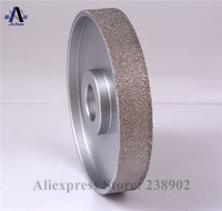 4 100mm Vacuum Brazed Diamond FLAT Wheel / Stone Edging Wheel especially For Resin Glass etc