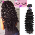 Beauty Brazilian Deep Wave Hair Grade 7A Unprocessed Virgin Hair 4 Bundles Deals Brazilian Hair Deep Wave Human Hair Weaving