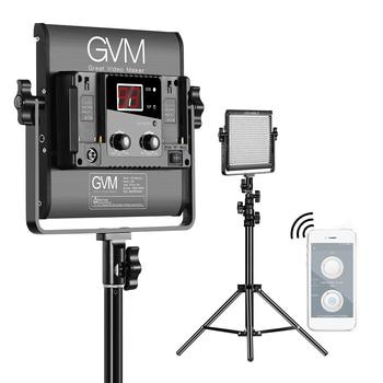 GVM LED-480LS 2pcs 2300K-6800K Bi-color LED Video Panel Light and 70inch Stand Lighting Kit Al Alloy Housing Studio Photography
