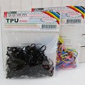 300 unidades/pacote de Borracha Faixas de Cabelo Rabo de Cavalo Titular Corda Elástica Laços Tranças tranças de Cabelo Clipe Acessórios de Cabelo Cabeça