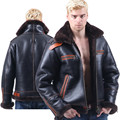 B3 shearling Bomber Fur military pilot World II Flying aviation air Leather jacket Environmental protection of leather Men's B6