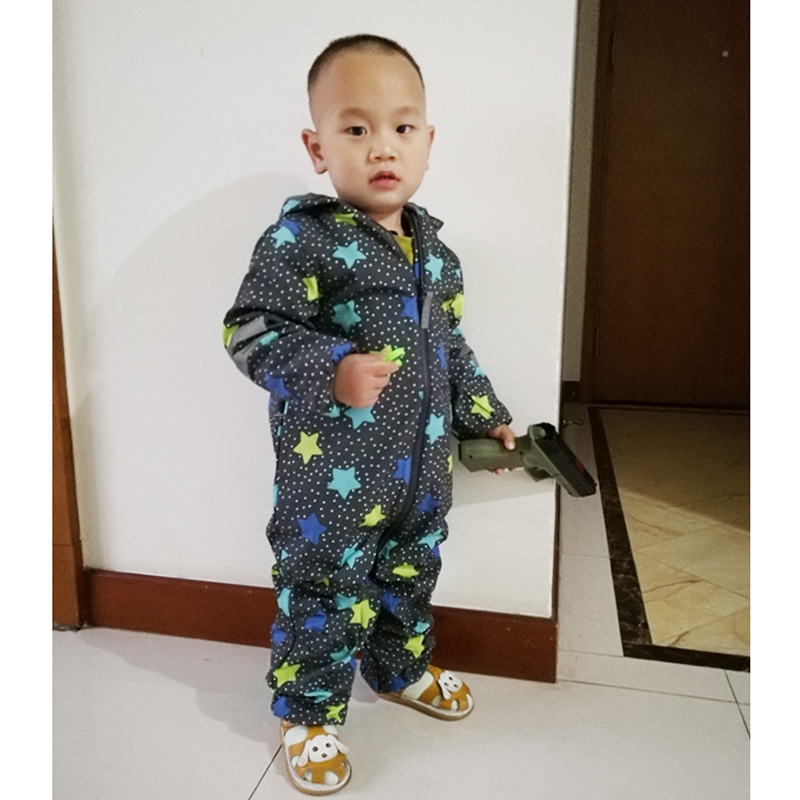 Image 3 - kids/boys/girls windproof / waterproof softshell hooded jumpsuit, slim shape design,  size 80 to 116-in Rompers from Mother & Kids