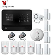 GSM Home Security Alarm Touch Screen Burglar Security Alarm Smoke Detector