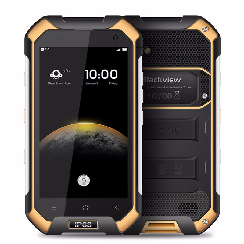 Blackview BV6000S Смартфон 4 Г LTE Водонепроницаемый <font><b>IP68</b></font> 4.7 &#8221;HD MT6735 Quad ядро Android 6.0 Мобильный Сотовый Телефон 2 ГБ RAM 16 ГБ ROM 8MP