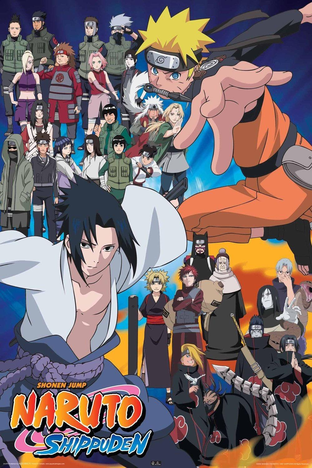 naruto cast tv anime wall poster posters for living room wall wall poster home
