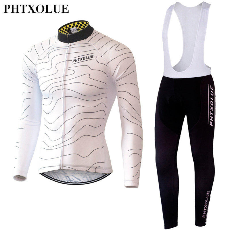 Phtxolue Spring Autumn Men's Long Sleeve Cycling Jerseys Sets Breathable 3D Padded Bicycle Sportswear Cycling Clothing XS To 4XL for adult high elastic polyester goalkeeper sets breathable soccer goalie clothing uniforms long sleeve goalkeeper jerseys