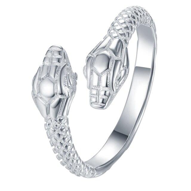 Serpente semplice argento placcato anello di modo jewerly anello donna e uomo,/f