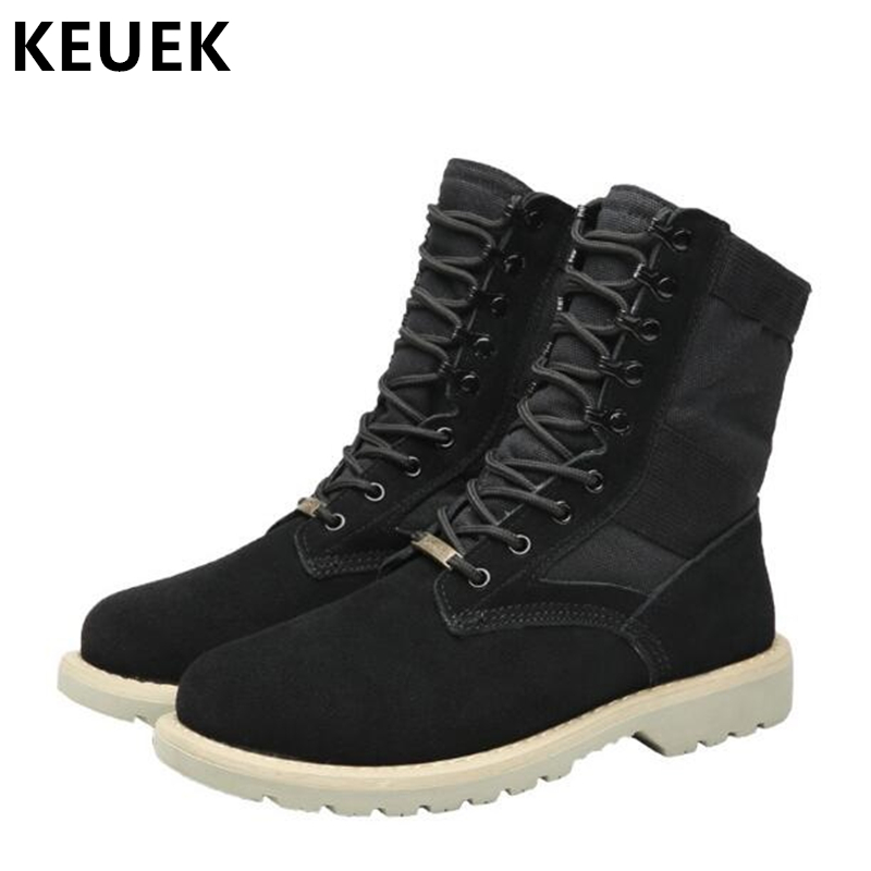 New Arrival Men Martin boots Large size Men shoes Autumn Winter Snow boots Genuine leather Outdoor Tooling Desert boots 061