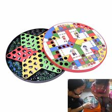 Kids Develop Intelligence Game Battle Ludo Flying Airplane Plastic Carpet Chess hot sale(China)