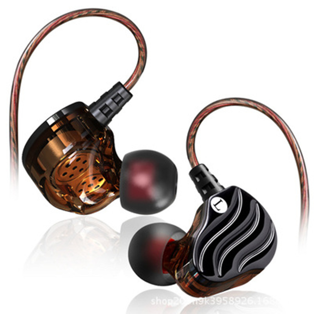 Dual dynamic Earphones HIFI Bass Subwoofer In-ear Sports headset music earbuds with mic for Iphone 5 6 7s 8 Xiaomi