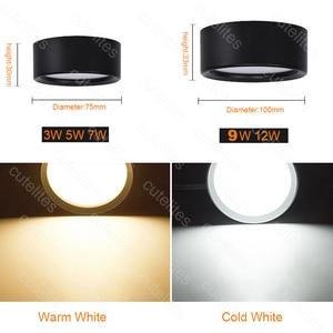 Image 5 - พื้นผิว 12W LED ดาวน์ไลท์ 7W 10 W โคมไฟเพดาน Ultra บาง Driverless cob ไฟ LED สปอตไลท์ 220V เพดานโคมไฟแสง