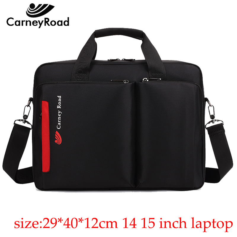 Carneyroad New Fashion 12 13 14 15 Inch Laptop handBags For Men Women High Quality Waterproof Business Messenger Briefcases-in Briefcases from Luggage & Bags