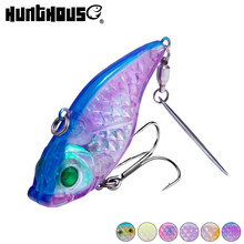 Hunthouse hard lure spinner baits VIB with spoon fishing lures perch hard bait for bass pike 60mm 28g sinking predator(China)