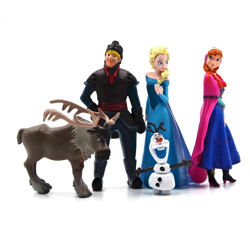 Disney hot toys per il capretto di modo congelati 5 pz set action figures principessa elsa anna principe figure anime juguetes ty064