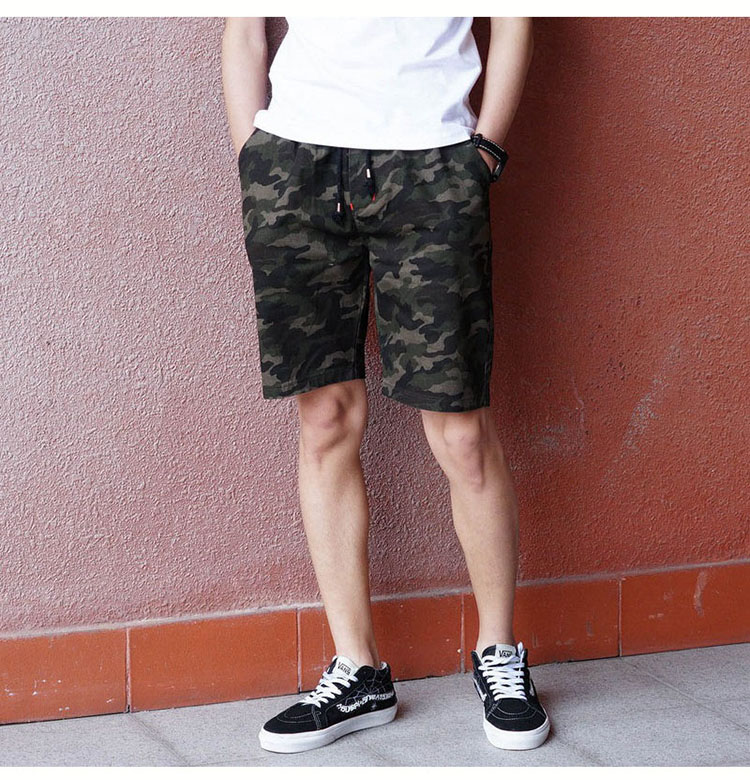 Aolamegs Camouflage Shorts Men Military Style Casual Camo Shorts Men\`s Summer New Fashion Streetwear Elastic Waist Beach Shorts (6)