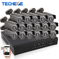 new 16CH 720P AHD DVR kit AHD-M 1080p HDMI AHD CCTV DVR 16PCS 1.0 MP 1200tvl IR Outdoor indoor Security Camera AHD Camera System
