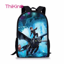 Thikin How to Train Your Dragon Backpack for Teenager School Bag Preschool Bookbag for Boys Travel Shoulder Bag Women Mochila how to train your dragon school bag noctilucous backpack student school bag notebook backpack daily backpack