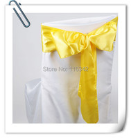 Wholesale Factory Price! 200pcs/Lot! Stain CHAIR COVER BOWS WEDDING SASHES,17*275cm for wedding Free Shipping MARIOUS