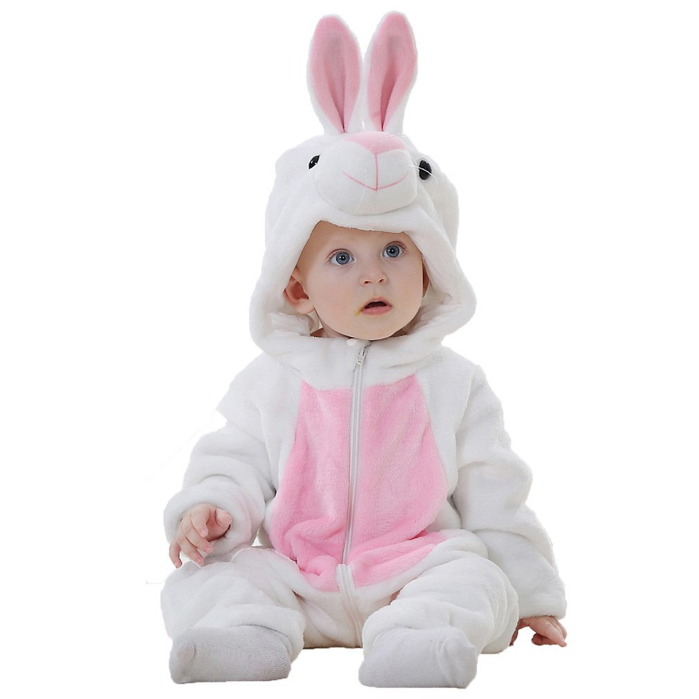 Baby Costume Bunny Animal Rabbit Pajamas For Toddler Girl Winter Flannel Romper Outfit One PieceBaby Costume Bunny Animal Rabbit Pajamas For Toddler Girl Winter Flannel Romper Outfit One Piece