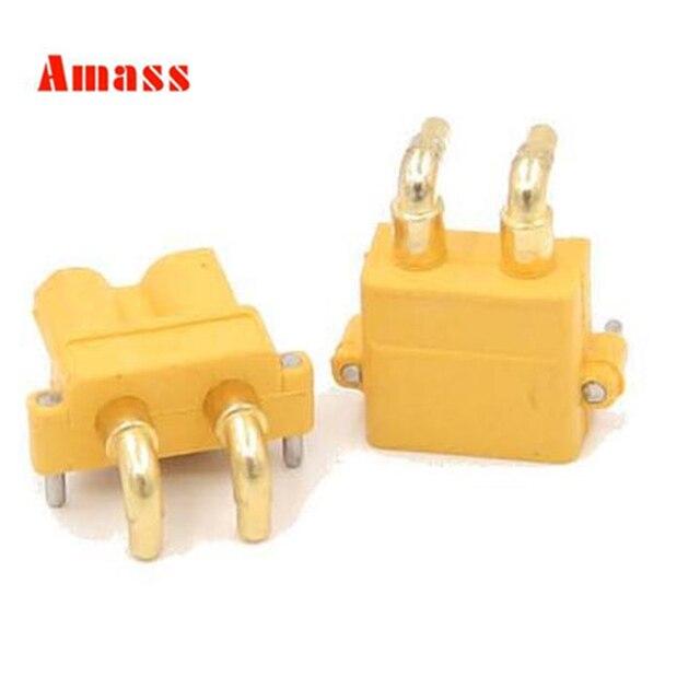 10 pares Original Amass XT30PW ESC Motor PCB board plug Banana Golden XT30 actualización ángulo recto conector para RC modelo 20%