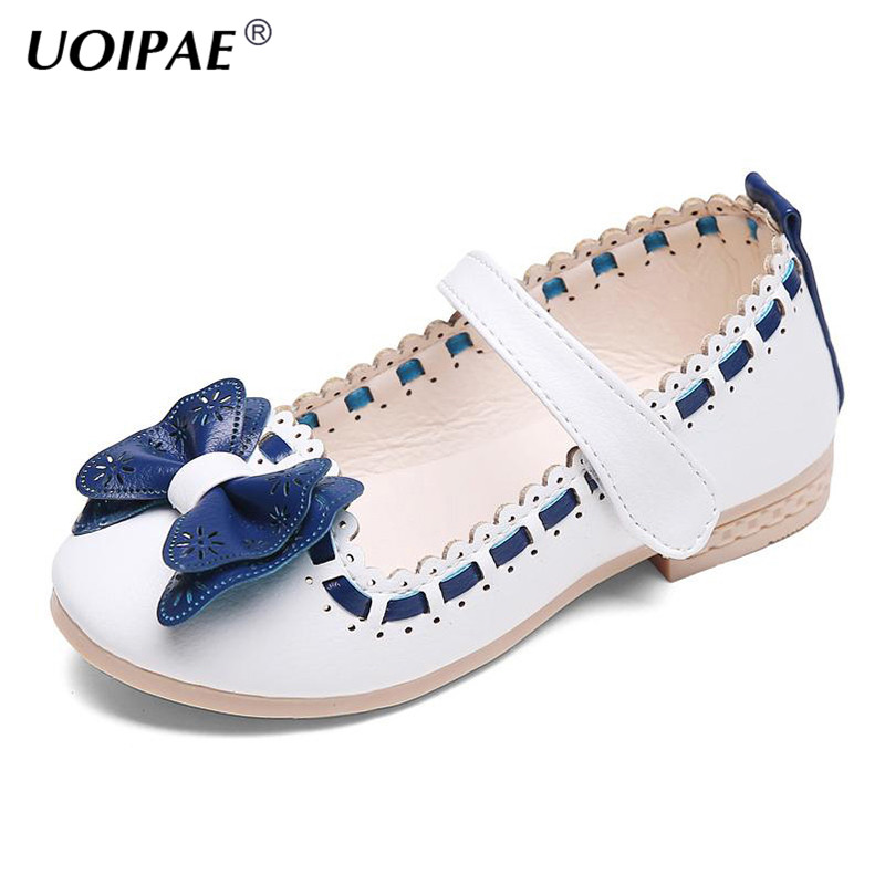 Baby Girl Shoes 2016 New Spring And Autumn Fashion Bow Lace Girls White Shoe Solid Cute Girls Shoes 9025W