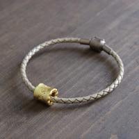 Eastisan Brand Jewelry Tibetan Buddhist Braided Leather Bracelets Om Mani Padme Hum Charm Bracelet Lucky Bangles