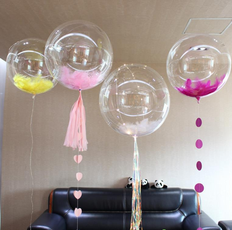36 Inches Bobo Bubble Clear Balloons Wedding Shower Xmas