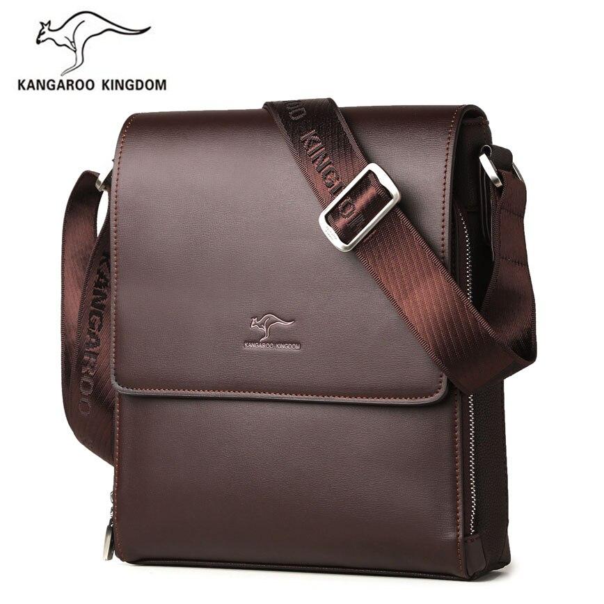 Kangaroo Kingdom Fashion Men Bag Split Leather Business Male Crossbody Shoulder Messenger Bags